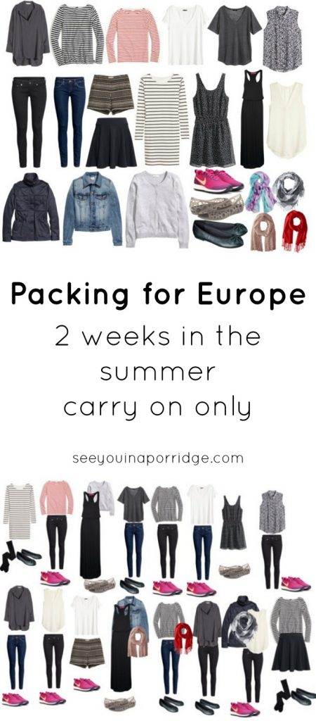 Packing for Europe – 2 Weeks in the Summer – Carry On Only
