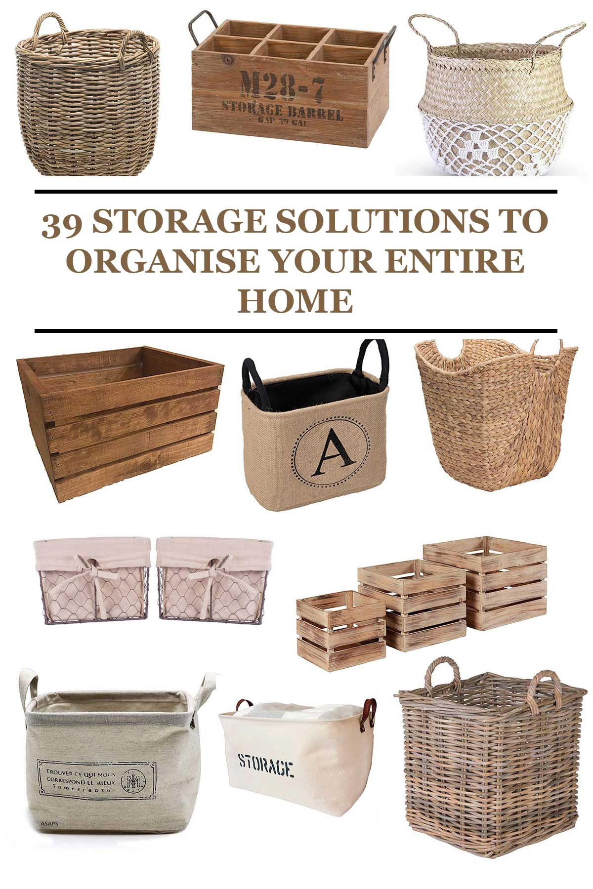 39 STORAGE SOLUTIONS TO ORGANISE YOUR ENTIRE HOME
